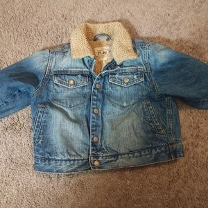 Boy/girl 1989 PLACE jean jacket with plush lining